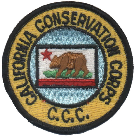 "Vintage California Conservation Corps Patch - C.C.C. Resource Agency 3"" (Sew on)"