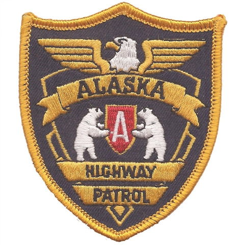 Alaska Highway Patrol Patch - Novelty Badge (Iron on)