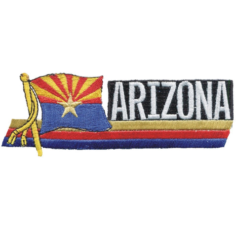"Arizona Flag Patch - AZ Badge, Copper Star 4.75"" (Iron on)"