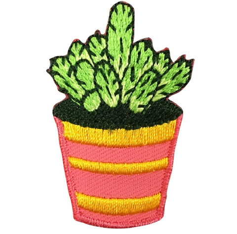 "Cactus Applique Patch 1-5/8"" (Iron on)"