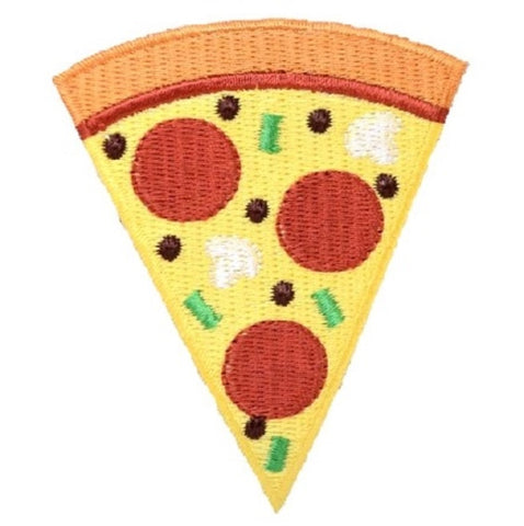 "Pizza Applique Patch - Slice of Pie, Pepperoni, Cheese, Pizzeria 3"" (Iron on)"