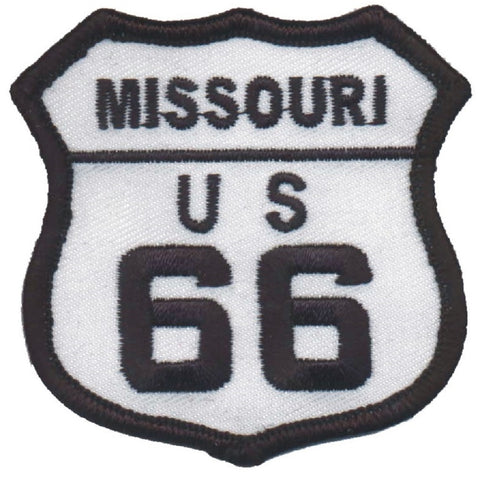 "Missouri Route 66 Patch - St. Louis, Springfield, Joplin, Rolla 2.5"" (Iron on)"