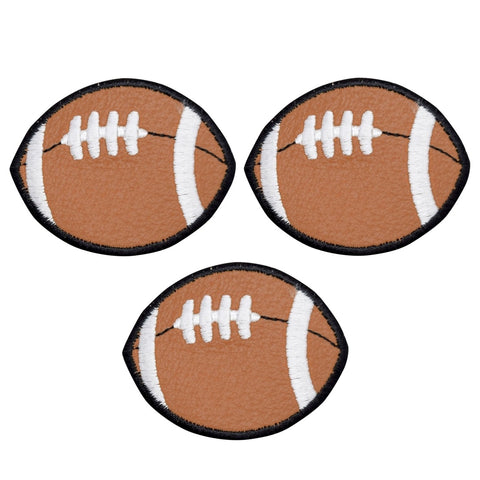 "Football Applique Patch - Vinyl, Sports Badge 2"" (3-Pack, Iron on)"