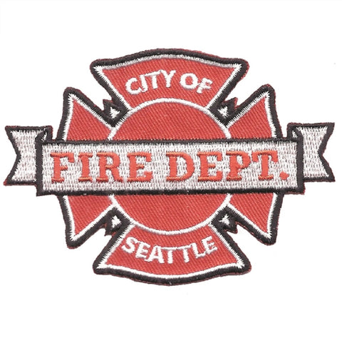 Seattle Fire Department Patch - Washington (Iron on)
