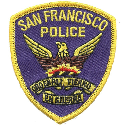 San Francisco Police Department Patch - California (Iron on)