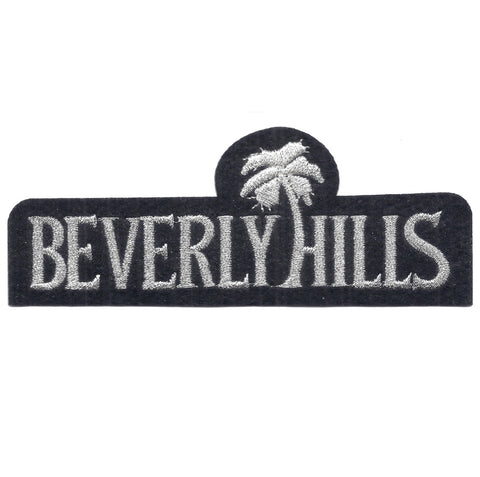 "Beverly Hills Applique Patch - California Badge, Palm Tree 5.25"" (Iron on)"