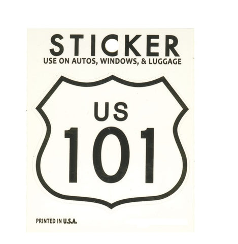 US 101 Sticker - California, Oregon, Washington, UV Protection 2-7/8""
