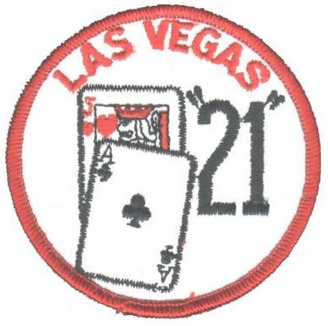Las Vegas Gaming Patch - Blackjack 21 (Sew On)