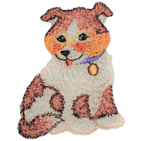 "Puppy Dog Applique Patch - Animal, Pet Badge 2-1/8"" (Iron on)"