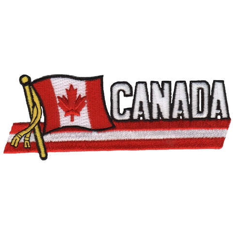 "Canada Patch - North America, Canadian Maple Leaf Badge 4.75"" (Iron on)"