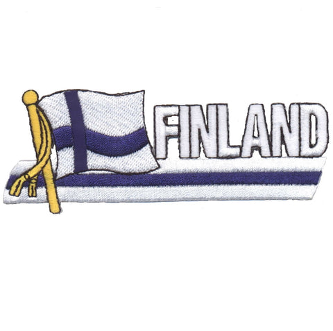 "Finland Patch - Nordic, Helsinki, Espoo, Baltic Sea Badge 4-7/8"" (Iron on)"