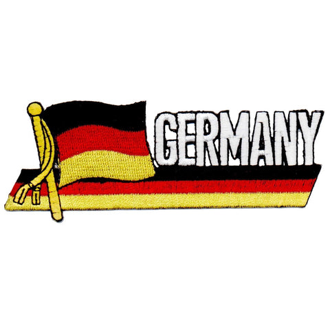 "Germany Patch - USA, Berlin, Frankfurt, Hamburg, Munich Badge 4-7/8"" (Iron on)"