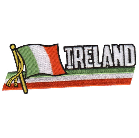 "Ireland Patch - Belfast, Dublin, United Kingdom, Irish Flag 4.75"" (Iron on)"