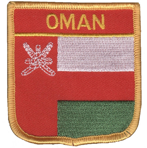 "Oman Patch - Persian Gulf, Arabian Sea, Strait of Hormuz 2.75"" (Iron on)"