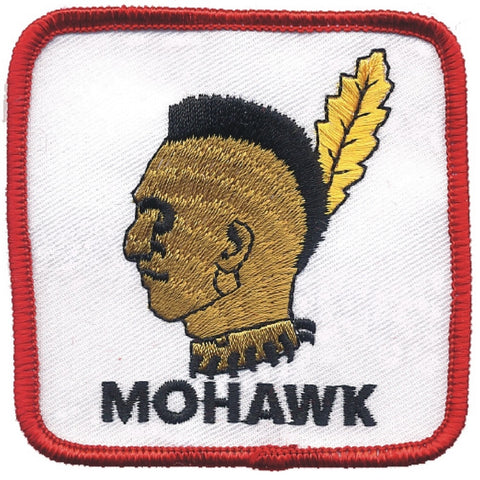"Mohawk Patch - Native American, Indian, Tribal Badge 3"" (Iron on)"
