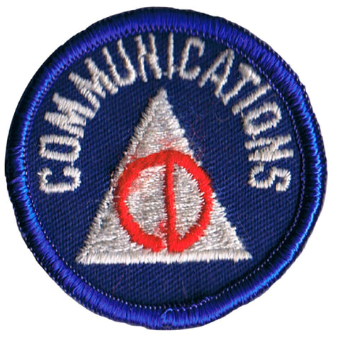 Vintage Civil Defense Communications Patch - USA Homeland Security, Cold War (Sew on)