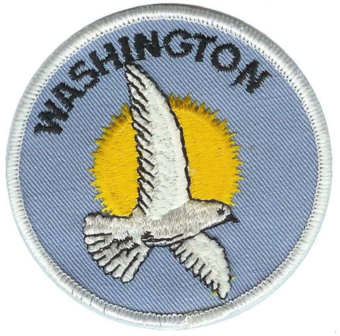 Vintage Washington Patch - Seagull and Sun (Sew on)