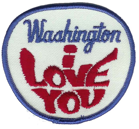 Vintage Washington I love You Patch (Sew on)