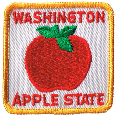 Vintage Washington Patch - Apple State, Seattle, Tacoma (Sew on)