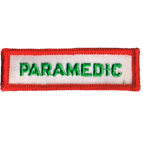 Vintage Paramedic Patch - First Responder Medical Badge (Sew on)