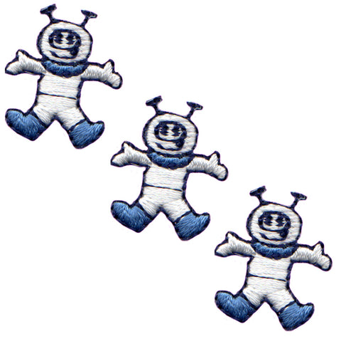 "Mini Astronaut Applique Patch - Outer Space, Spacesuit 13/16"" (3-Pack, Iron on)"