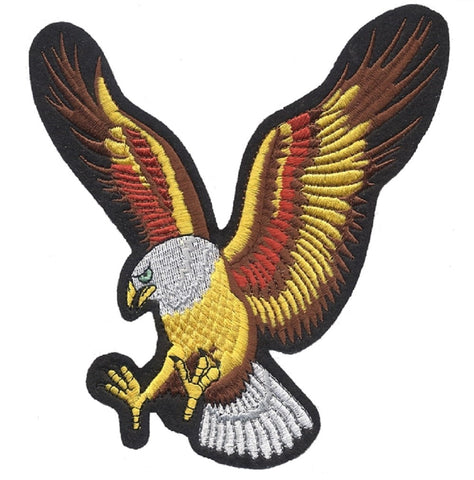"15 Inch Eagle Applique Patch -  USA Biker Clubs, Motorcycle Jacket Badge 15"" (Iron on)"