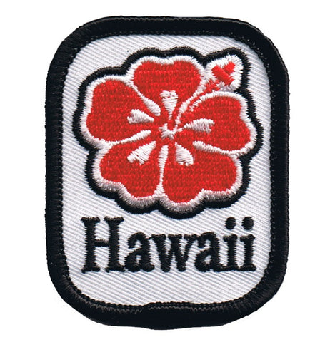 "Hawaii Patch - Hibiscus, Tropical Flower Badge 2.25"" (Iron on)"