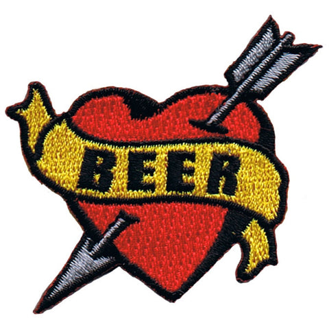"Beer Tattoo Applique Patch - Pilsner, Pale Ale, IPA, Lager, Draught, Ale 2.25"" (Iron on)"