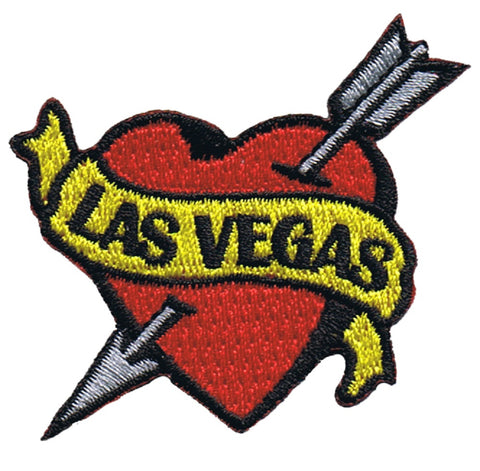 Las Vegas Tattoo Patch - Arrow Through Heart, Nevada (Iron on)