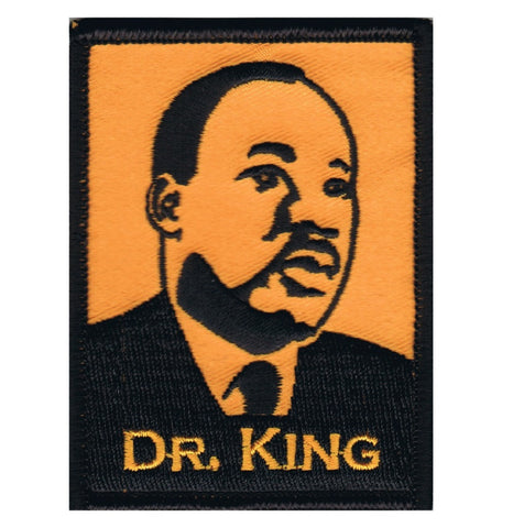 "Dr. King Patch - Martin Luther King, Jr., Activist, Speaker 3"" (Iron on)"