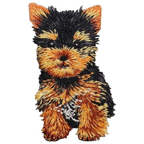 "Yorkie Applique Patch - Yorkshire Terrier, Teacup, Dog, Puppy Badge 2"" (Iron on)"