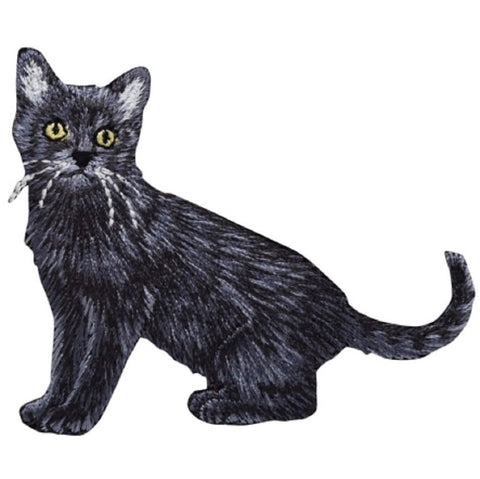 "Black Cat Applique Patch - Kitten, Kitty, Feline 3"" (Iron on)"