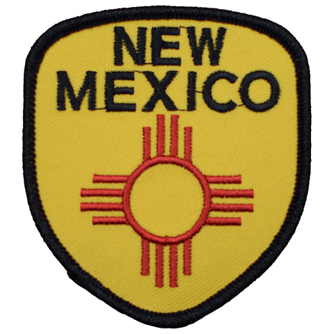"New Mexico Patch - Albuquerque, Santa Fe, Southwest, NM Badge 2-7/8"" (Iron on)"
