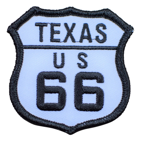 Texas TX Route 66 Patch (Iron On)