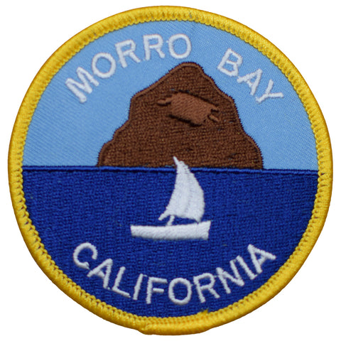 "Morro Bay Patch - Morro Rock, San Luis Obispo, California 3"" (Iron on)"