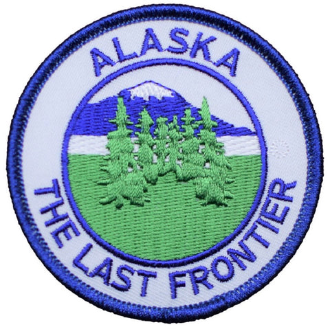 "Alaska Patch - The Last Frontier AK Badge 3"" (Iron on)"