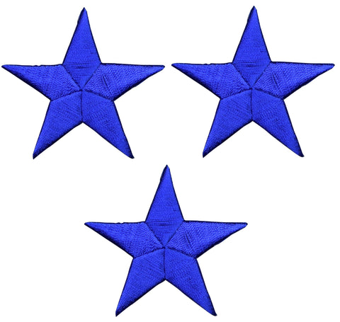 "Star Applique Patch - Royal Blue 2.25"" (3-Pack, Iron on)"