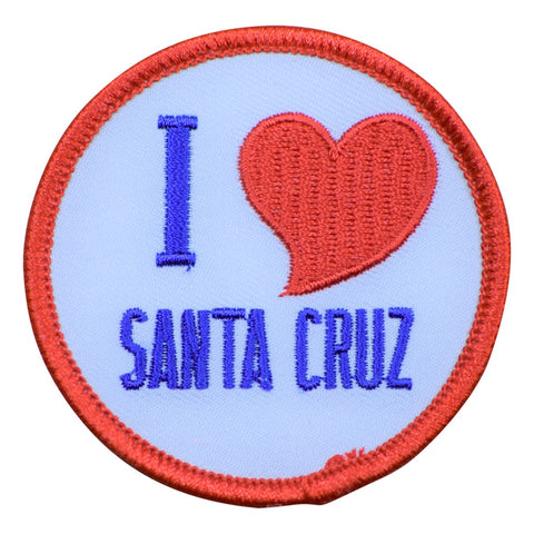 Santa Cruz Patch - I Love SC, California (Iron on)