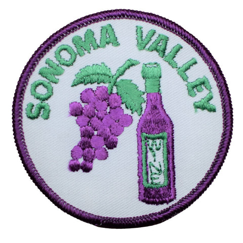 "Vintage Sonoma Patch - California, Wine Country, Grapes Badge 3"" (Sew on)"