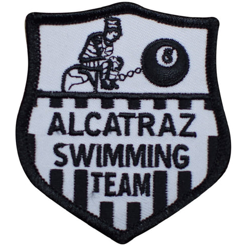 "Alcatraz Patch - Swimming Team, 8 Ball, San Francisco, California 3"" (Iron on)"