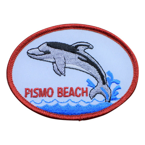 Pismo Beach Dolphin Patch (Iron On)