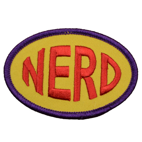 "Nerd Patch - Smart, Geek, Brainiac, Techie, Programmer Badge 3"" (Iron on)"