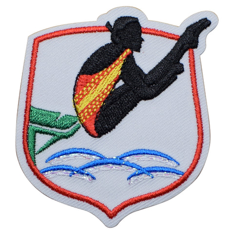 "Diving Applique Patch - Sports Badge 2.25"" (Iron on)"