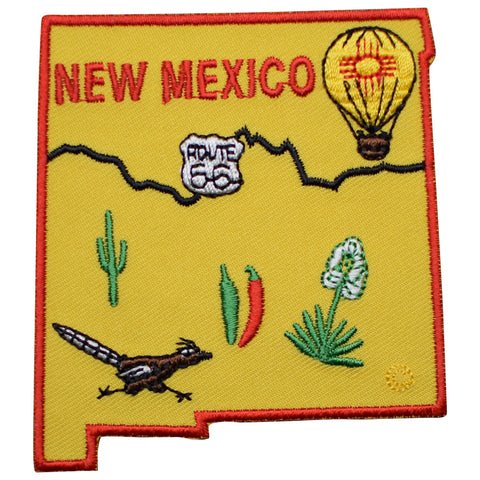 "New Mexico Patch - Albuquerque, Santa Fe, Route 66 3-3/16"" (Iron on)"