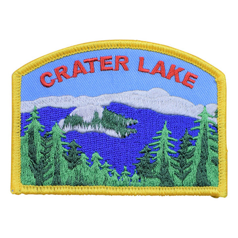 Crater Lake National Park Patch - Oregon (Iron on)