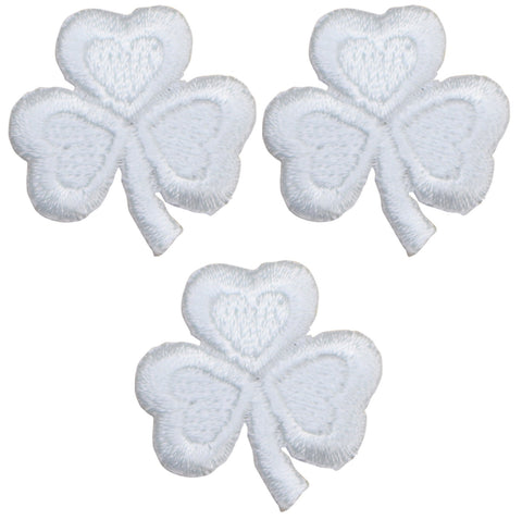"Shamrock Applique Patch - Clover, Good Luck Badge 1"" (3-Pack, Iron on)"