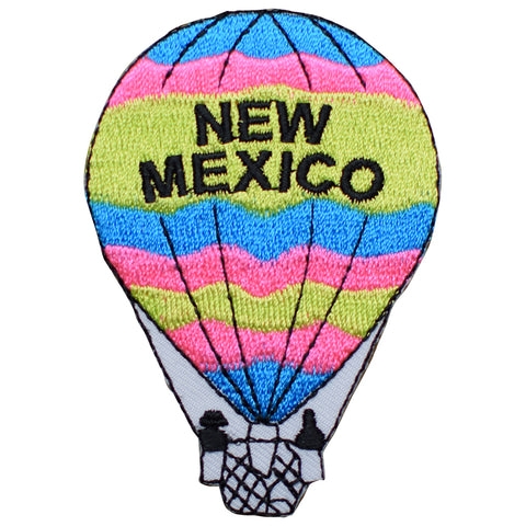 "New Mexico Applique Patch - Hot Air Balloon, NM Badge 3-1/8"" (Iron on)"