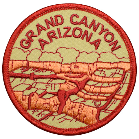 "Grand Canyon National Park Patch - Colorado River, Arizona Badge 3"" (Iron on)"