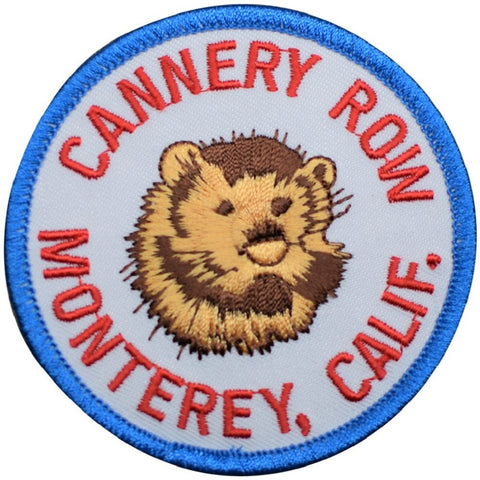 "Monterey Patch - Cannery Row, Sea Otter, California Beach Badge 3"" (Iron on)"