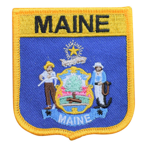 "Maine Patch - New England, Augusta, Portland, Lubec 2.75"" (Iron on)"